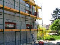 Neuer Vollwärmeschutz-Anbringung eines Vollwärmeschutzes zur Energieoptimierung.